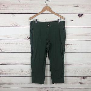 Athleta hunter green Capri pants stretch pocket 12
